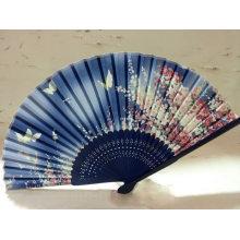 Venda quente de seda dobrável mão ventilador de bambu