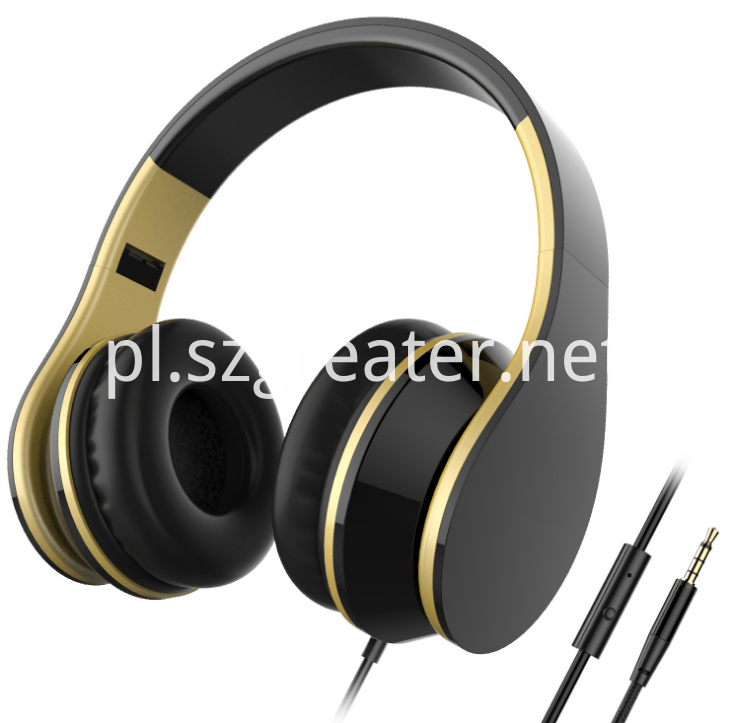 Wired Headphone With Mic Cheap Headset Foldable