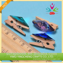 Crystal Wooden Clip new product Wooden Clip
