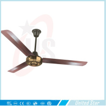 Unitedstar 56 ′ ′ metal dourado cromado ventilador de teto capa