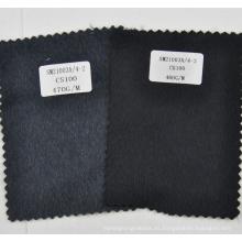 100% tela de cachemira gris oscuro y negro de la fábrica de porcelana