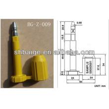 selos de contêineres BG-Z-009