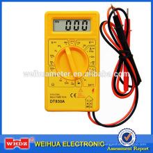 Multimètre numérique DT830A avec testeur de batterie à sortie carrée
