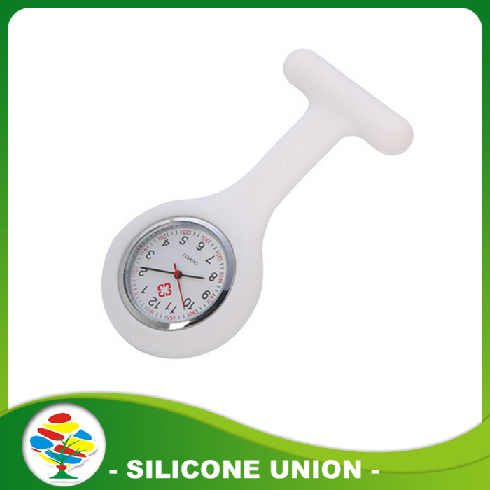 white silicone nurse watches