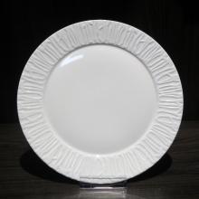 Embossed White Porcelain Dinner Sets