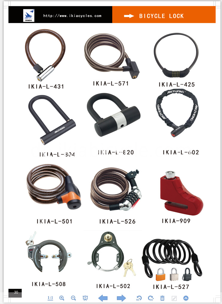 combination Lock steel cable lock