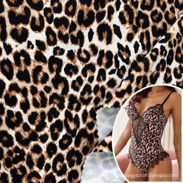 4 way stretch spandex 18 nylon 82 leoapard cheetah skin printed fabric for women