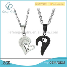 Popular couples breakable heart pendant, best pendant gifts for lover