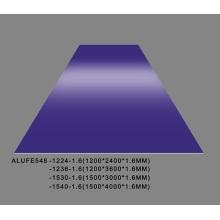 Plaque de feuille d'aluminium pourpre doux brillant 1,6 mm