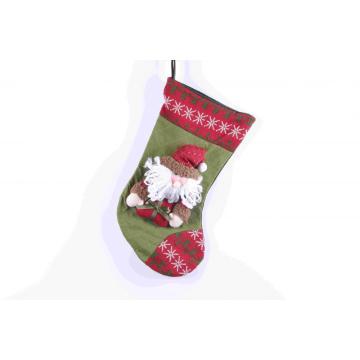 Bonbons chaussettes cadeaux sac sapin de Noël décoration suspendue