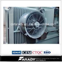 Transformateur de distribution d'énergie 2500kVA avec des ventilateurs de refroidissement de transformateur