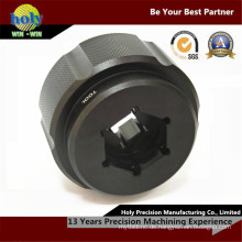 CNC-Drehmaschine Teile fotografischen Fall 7075grade Aluminium schwarz eloxierten Fitting