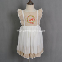 handmade embroidered girls boutique dress WDW remake