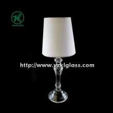 Single Glass Candle Holder with Lamp (KL110406-24)