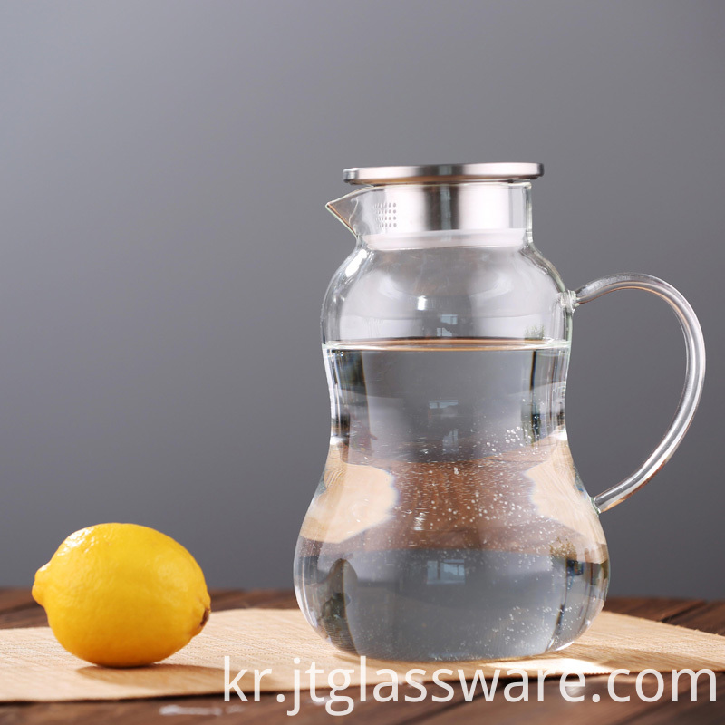 ,HotCold Water Carafe with Handle Beverage Pitcher