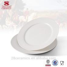 Vajilla blanca amistosa al por mayor de la cena, placa de porcelana barata
