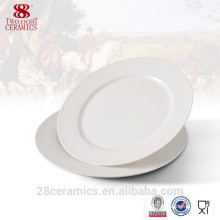 Wholesale eco friendly white dinner ware, cheap porcelain plate
