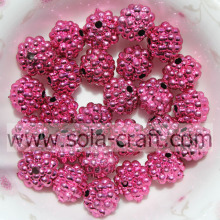 Beautiful Acrylic Electric Plating Beads For DIY Necklace Rose Color