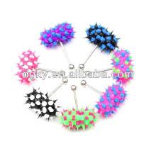 Piercing en silicium coloré bijoux à bague vibrante