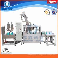 Máquina de rellenar líquida química automática / línea de solvente, diluyente, lubricantes