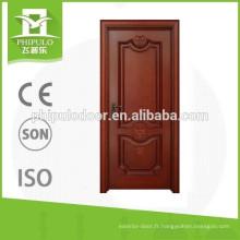 FPL-W2037 porte intérieure en bois de nouvelle conception de prix pas cher