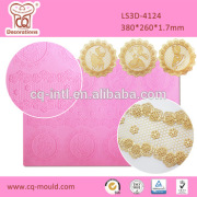Baking Supplies Sweet Lace Mat Silicone Mold for Cake Making