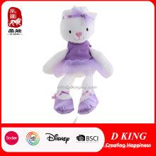 "16"" Long-Legs Lady Rabbit Doll with Purple Skirt"