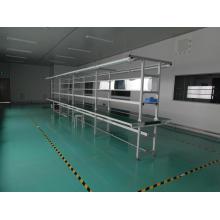 PVC-Bandfördererlinie mit langer Arbeitsbank