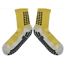 Neue Mode Baumwolle Grid Style Team Sport Fußball Socken Anti Slip Fußball Socken