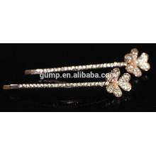 Charmante glänzende Kristall Barrette Strass Bobby Pin