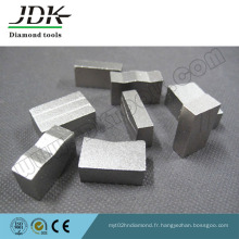 Segment de diamant de type rainuré pour couper le granit