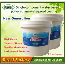 Un solo componente poco olor Poliuretano impermeable Material para acero