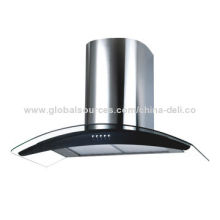 60/90cm Wall Mounting Glass Range Hood with Push Button