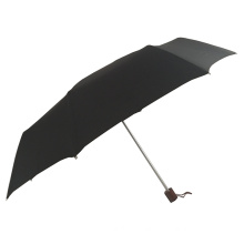 Luxury high quality 25inch 3 folding windproof wooden handle  best travel umbrella for summer