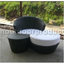 Sofa en osier de patio en rotin