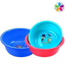 Cartoon Design Round Plastic Washing Basin (SLP036)