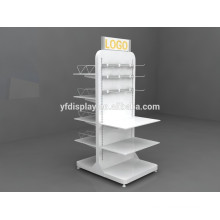 high quality white color wooden shoe display rack