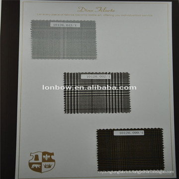Made to measure service fabric, wool check jacket fabric for tailors