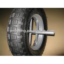Barato 4.80/4.00-8,3.50-8 rueda de goma, ruedas neumáticas, ruedas macizas, ruedas de carretilla