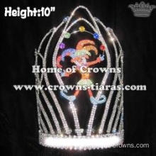 Unique Crystal Custom Clown Circus Crowns