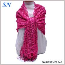 2014 Fashion Enchanted Garden Sequin Shawl Soirée Wraps