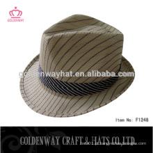 Chapéus promocionais promocionais de fedora de poliéster