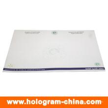 Certificado de papel de estampado en caliente personalizado de seguridad