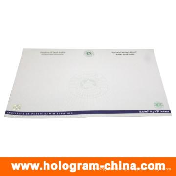 Certificado da folha de carimbo quente da segurança feita sob encomenda