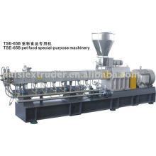 Extrusora de parafuso gêmea SHJ-75B-padrão do CE & preço do competidor do alimento do animal de estimação