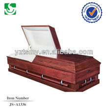 white velvet cherry US casket