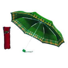 Check Border Solid Edge Windproof Fold Umbrella (YS-3FM21083406R)