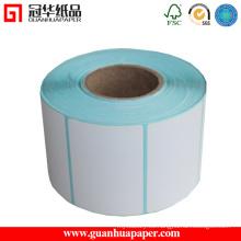 Etiqueta adhesiva térmica directa en blanco ISO