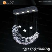Popular Moon Shape Modern Crystal Pendant Lamp (Om9218)