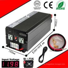 Inversor DC-AC 2500W 12VDC ou 24VDC 48VDC para 110VAC ou 220VAC Inversor de onda senoidal pura com carga AC